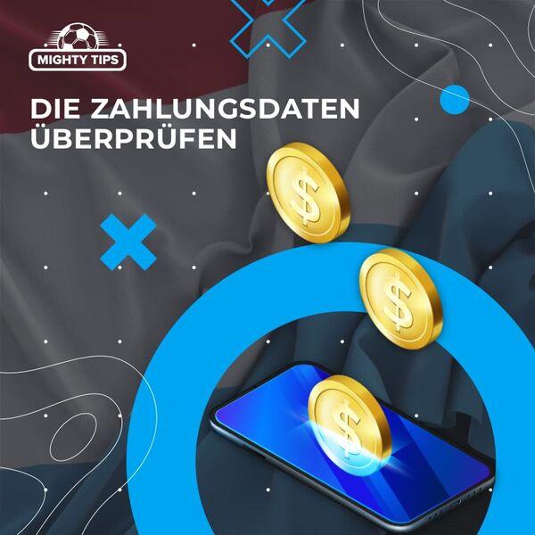 Münzen fallen auf Smartphone